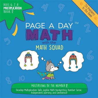 page ADay Math Multiplication Book Paperback -