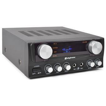 Skytronic 103.202 amplificador de áudio 2.0 canais Casa Preto
