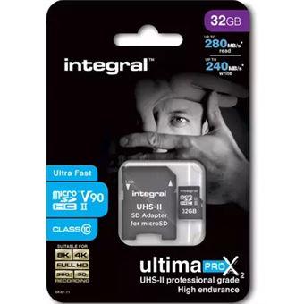 cartão de memória Integral 32GB microSDHC/XC  Class 10 SLC Preto