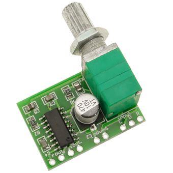 Amplificador de Áudio BeMatik PAM8403, 5V 3W + 3W, com Suporte a USB Modelo DW-0879