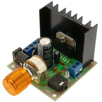 Amplificador de Áudio BeMatik TDA7297, 15W + 15W, 12V, com potenciôMetro. Modelo DW-0427