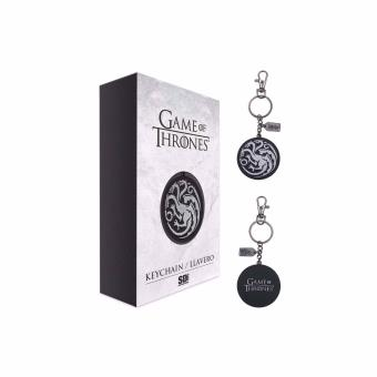 Porta-chaves Game Of Thrones - Targaryen Logo Argent Metal