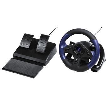 Hama 113754 Volante + Pedais PC Preto, Azul