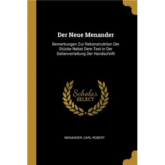 der Neue Menander Paperback -