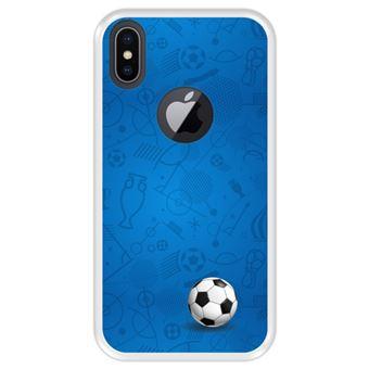 Capa Tpu Hapdey para Iphone X - Xs | Design Padrão de Esportes com Bola de Futebol - Transparente