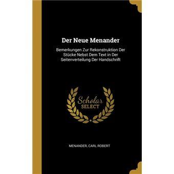 der Neue Menander Hardcover
