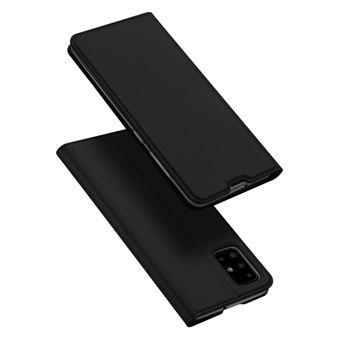 Capa Magunivers   TPU com suporte para cartão Preto para Samsung Galaxy A71