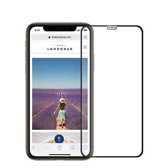 Película de Vidro Temperado Anti-Burst Borda Preto para Apple iPhone XR