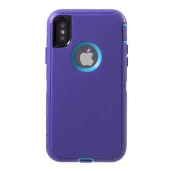 Capa Magunivers silicone 3 peça à prova de queda à prova de pó híbrido  prova céu azul roxo claro para Apple iPhone X - Bolsa Telemóvel - Compra na  Fnac.pt 0356e44cfa