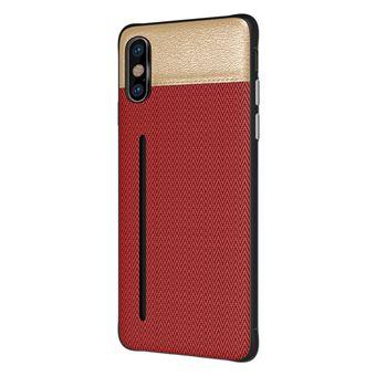 Capa Bicolor WISETONY para Apple iPhone 7 / 8 Vermelho e Dourado