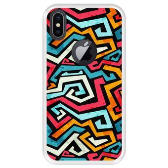 Capa Tpu Hapdey para Iphone X - Xs | Design Graffiti com Efeito Grunge - Transparente
