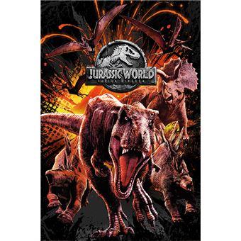 Poster em tubo Pyramid International Jurassic World Fallen Kingdom Montage 61 x 91.5 cm