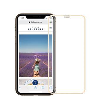 Película de Vidro Temperado Anti-Burst Borda Dourado para Apple iPhone XR