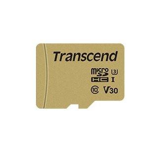cartão de memória Transcend 500S 64GB MicroSDXC UHS-I Class 10  Dourado