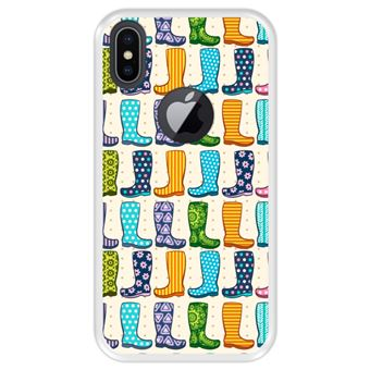 Capa Tpu Hapdey para Iphone X - Xs | Design Botas de Borracha Colorida Moda - Transparente