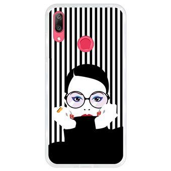 Capa Hapdey para Huawei Y7 2019 - Y7 Prime 2019 Design Mulher Pop Art em Silicone Flexível e TPU