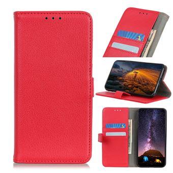 Capa Magunivers | PU + TPU superfície de lichia Vermelho para Xiaomi Mi Note 10/Mi CC9 Pro