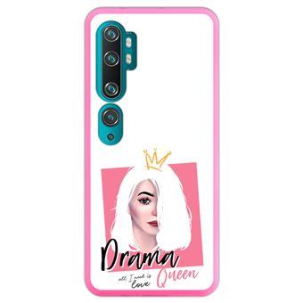Capa Hapdey para Xiaomi Mi Note 10 - Note 10 Pro - CC9 Pro   Silicone Flexível em TPU   Design Rainha Drama, tudo que você precisa é amor - Rosa