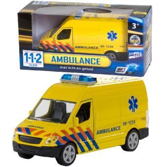 Ambulância Van der Meulen 0301065 Metal  Amarelo