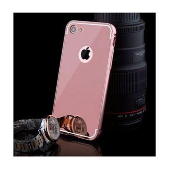 Capa Metal Lmobile com Proteção Traseira Espelhada para iPhone 7 / iPhone 8 Rosa Espelhado