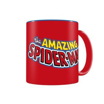 Caneca SD Toys Spiderman Logo Azul Vermelho Marvel Comics