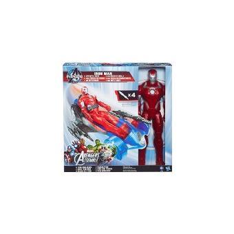 Figura Marvel Homem De Ferro Com Veículo