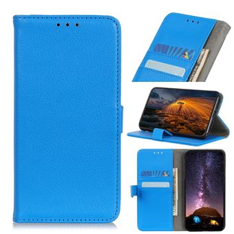 Capa Magunivers   PU + TPU superfície de lichia Azul para Xiaomi Mi Note 10/Mi CC9 Pro
