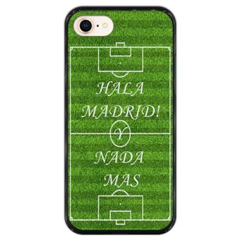 Capa Hapdey para iPhone 7 - 8 Design Campo de Futebol Hala Madrid em Silicone Flexível e TPU Preto