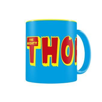 Caneca SD Toys Thor Logo Azul Yellow Marvel Comics