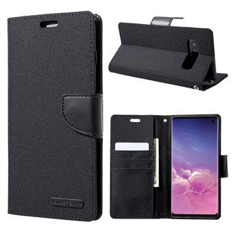 Capa Magunivers PU diário em tela preto para Samsung Galaxy S10
