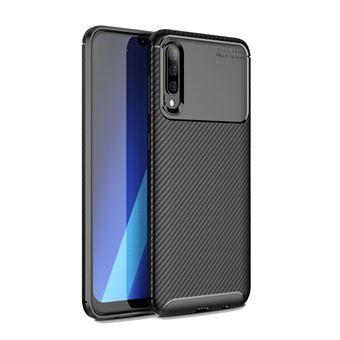 Capa TPU fibra de carbono à prova de choque preto para Samsung Galaxy A50