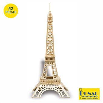 Torre Eiffel Modelismo Donau Painéis de Contraplacado com 52 Peças