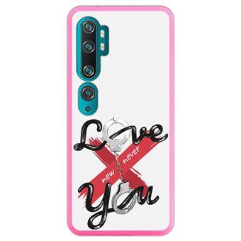 Capa Hapdey para Xiaomi Mi Note 10 - Note 10 Pro - CC9 Pro | Silicone Flexível em TPU | Design Esposas, eu te amo agora X nunca - Rosa