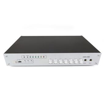 Amplificador de Som Profissional 60W BeMatik 110V 1 Zona com AUX MIC MP3