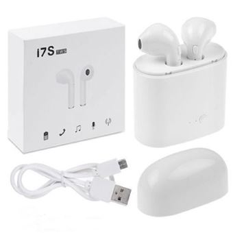 Auriculares Bluetooth True Wireless Arzopa I7s TWS Branco