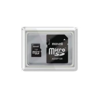 cartão de memória Maxell microSDHC 8GB   Preto