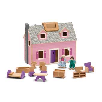 Melissa & Doug Fold & Go Mini Dollhouse Madeira casa de bonecas Multi cor