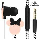 Fones Disney Com Design Minnie Mouse Em 3D 3,5 Mm Pretos