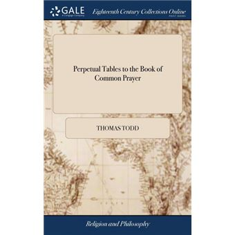 perpetual Tables To The Book Of Common Prayer Hardcover