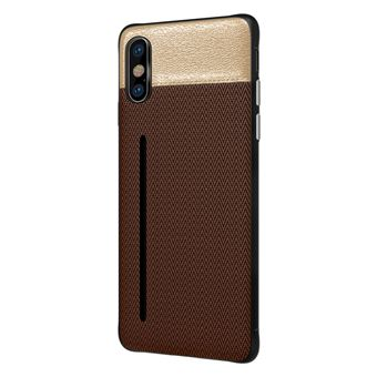 Capa Bicolor WISETONY para Apple iPhone 7 / 8 Café e Dourado