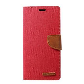 Capa Magunivers PU diário em tela vermelho para Samsung Galaxy S10