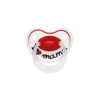 Chupeta bibi Nuggi Dental Silikon I love Mama 6 - 16 Mt. Silicone
