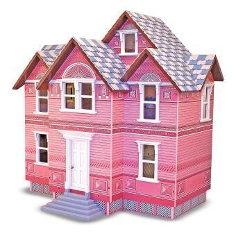 Melissa & Doug Victorian Madeira casa de bonecas Azul e Rosa