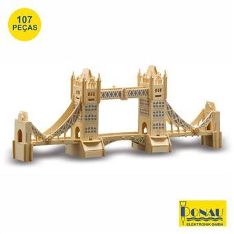 Tower Bridge Modelismo Donau Painéis de Contraplacado com 107 Peças