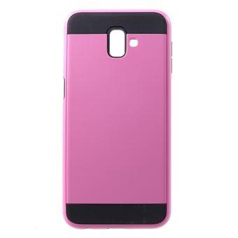 Capa Magunivers TPU e híbrido rosa para Samsung Galaxy J6 Plus