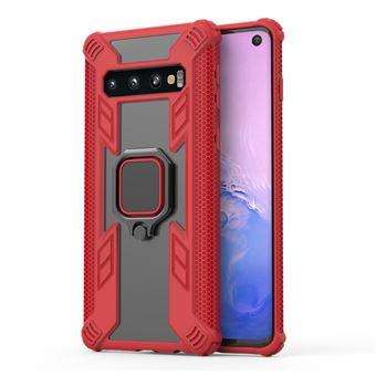 Capa Magunivers de TPU Estilo Guerreiro Vermelho com Suporte de Anel para Samsung Galaxy S10