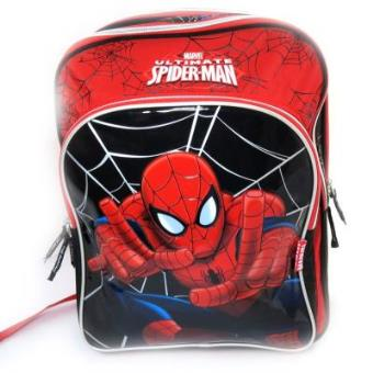 Mochila Spiderman vermelha e preta (42 cm)