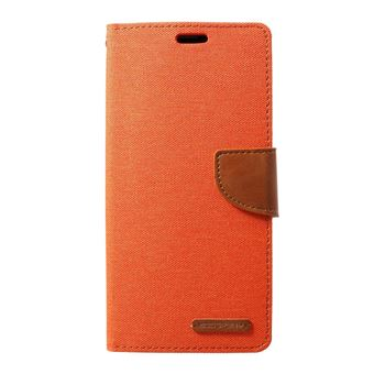 Capa Magunivers PU diário em tela laranja para Samsung Galaxy S10