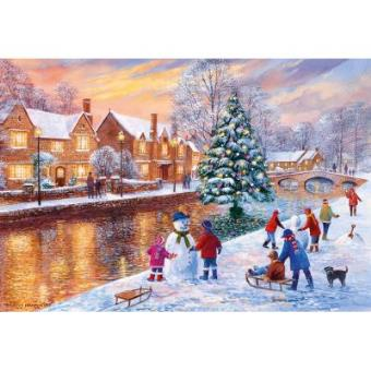 Bourton At Christmas Jigsaw Puzzle 500 Pieces Gibsons Games
