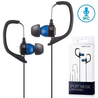 Auriculares Stereo Forever Com Fios Azul Desportivo